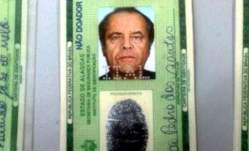 Brazilian man attempts to open bank account using fake Jack Nicholson ID