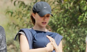 Natalie Portman shows off diamond 'wedding' ring again on hike with son