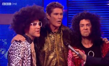 The Hoff joins Olly Murs and Scott Mills on Let's Dance For Sport Relief