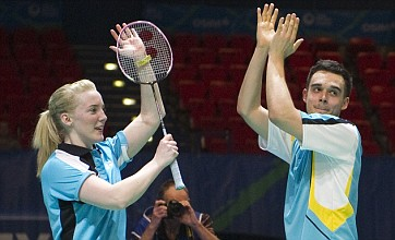 Chris Adcock and Imogen Bankier beat world number one doubles pair again