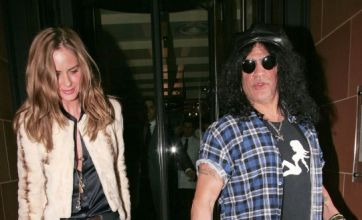 Trinny Woodall goes for dinner date with Guns N' Roses rocker Slash