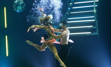 Strictly's Harry Judd and Aliona Vilani dance underwater for Sport Relief