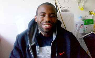 Smiling Fabrice Muamba thanks fans with picture on his Twitter account