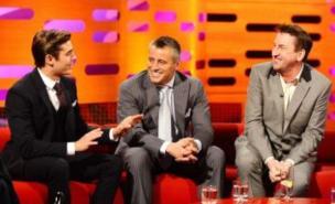 Zac Efron, Matt LeBlanc and Lee Mack appear on tonight's Graham Norton Show (BBC)