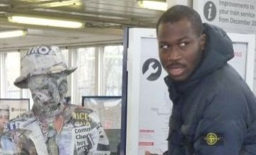 Teenage artist recycles newspapers to create the Metro Man statue
