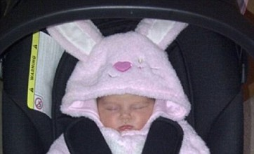 Una Healy's baby Aoife Belle spends first Easter in cute bunny costume