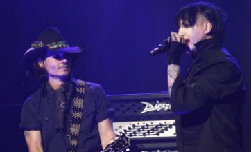 Johnny Depp rocks out with Marilyn Manson at 4th Golden Gods Awards