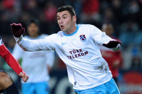 Trabzonspor's midfielder Burak Yilmaz, Fulham.