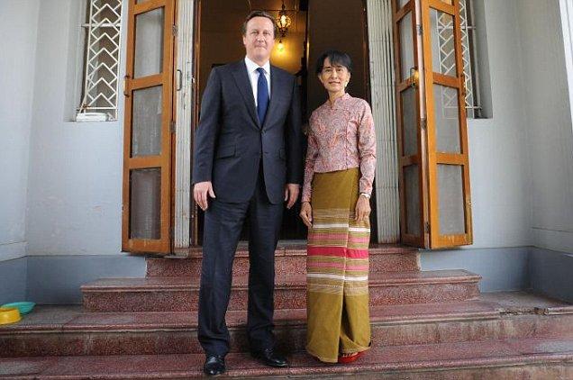 David Cameron, Aung San Suu Kyi