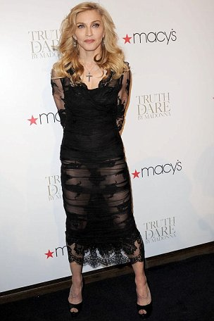 Madonna launches her fragrance Truth Or Dare at Macy's in New York