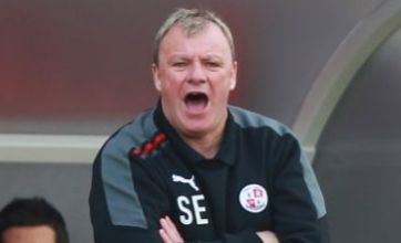 Crawley Town players burst into song after manager Steve Evans leaves club