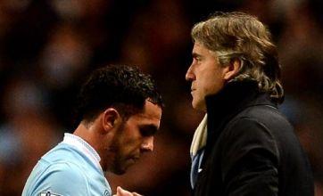 Old wounds heal as Man City hero Carlos Tevez nods to Roberto Mancini