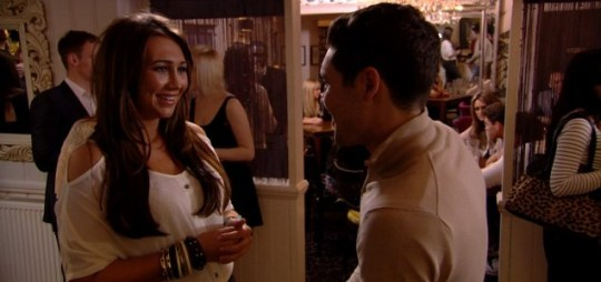 The TOWIE romance lottery continues, this week's it's...Lauren and Tom! (Picture: ITV)