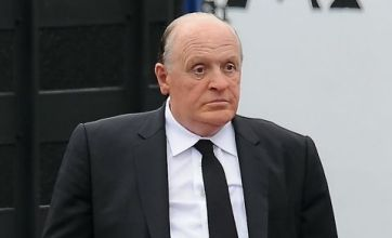 Anthony Hopkins looks virtually unrecognisable as Alfred Hitchcock