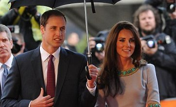 Kate Middleton and Prince William shine in African Cats premiere rain