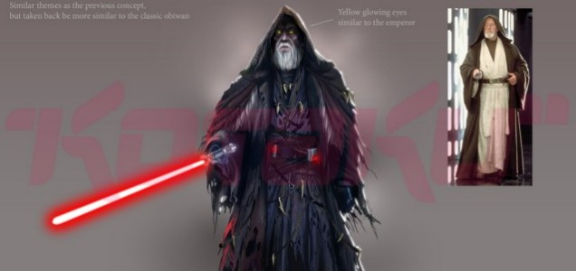 Concept art for Battlefront III was also leaked to website Kotaku, this one showing an alternative history Sith version of Ben Kenobi