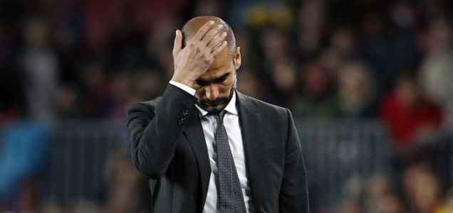 Barcelona's coach Pep Guardiola, leaving.