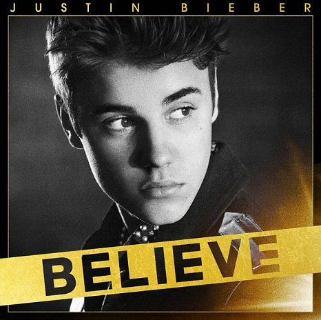 Justin Bieber's Believe album cover