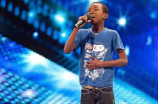 Nine-year-old Malakai breaks down in tears as he sings in front of the judges