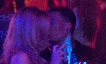 Maria Fowler gets over Lee Croft with footballer Nathan Eccleston in Marbs