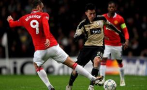 Gaitan helped Benfica secure a draw at Old Trafford in November (Getty)