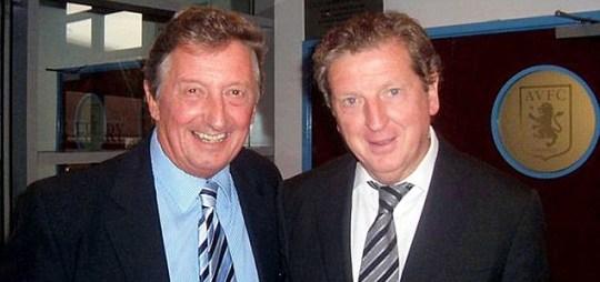 Neil Maybury (L) with Roy Hodgson