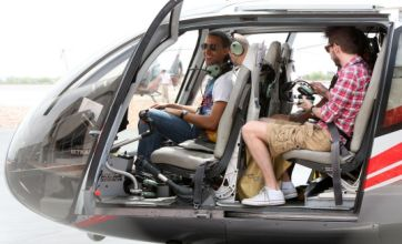 JLS enjoy Vegas helicopter flight as Marvin's marathon stag do continues