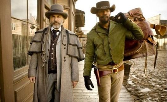 Christopher Waltz and Jamie Foxx in Django Unchained