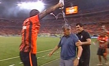 Shakhtar manager unhappy at title-winning water bath