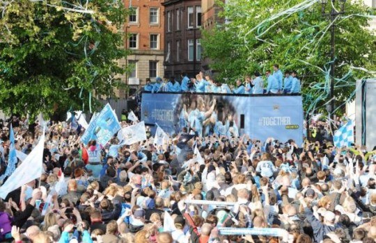 Manchester City parade, Premier League trophy
