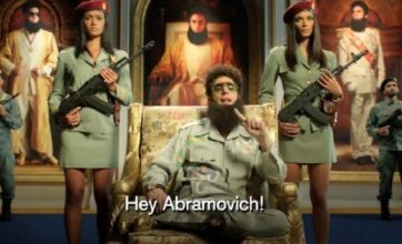 The Dictator wishes Chelsea good luck against Bayern Munich in Champions League final
