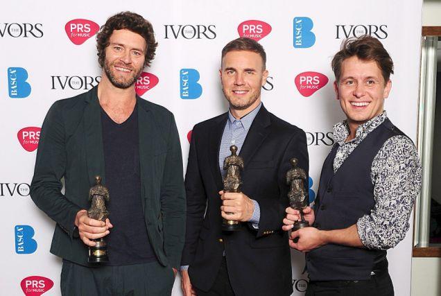 Howard Donald, Gary Barlow, Mark Owen, Take That, Ivor Novello Awards 2012
