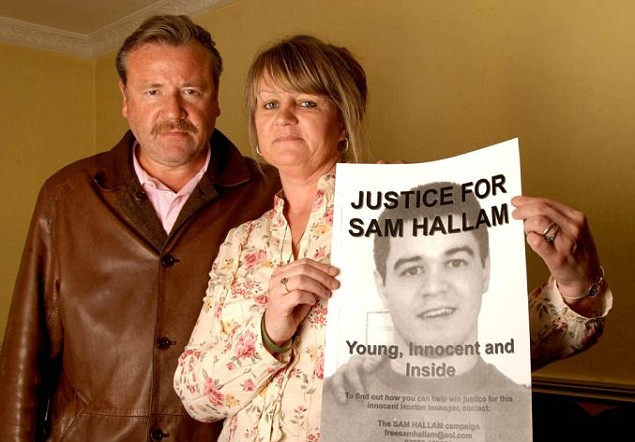 Actor Ray Winstone with Wendy Cohen, mother of Sam Hallam