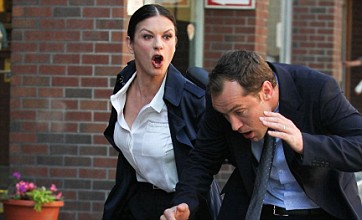 Jude Law given an earful by Catherine Zeta Jones on set of new film
