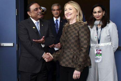 Asif Ali Zardari, Hillary Clinton