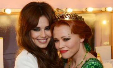 Cheryl Cole jets home to celebrate Kimberley Walsh's final Shrek show
