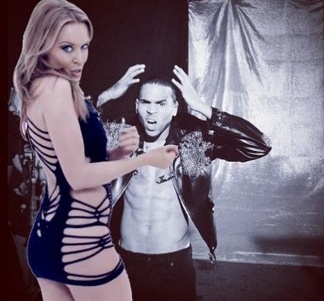 Kylie Minogue, Chris Brown