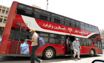 Red double-decker buses return to Baghdad