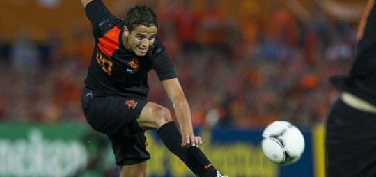 Ibrahim Afellay of the Netherlands