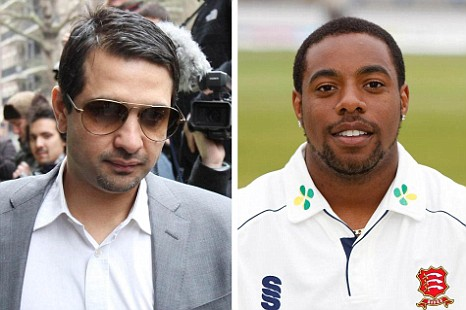 Sports agent Mazhar Majeed and former Essex player Mervyn Westfield