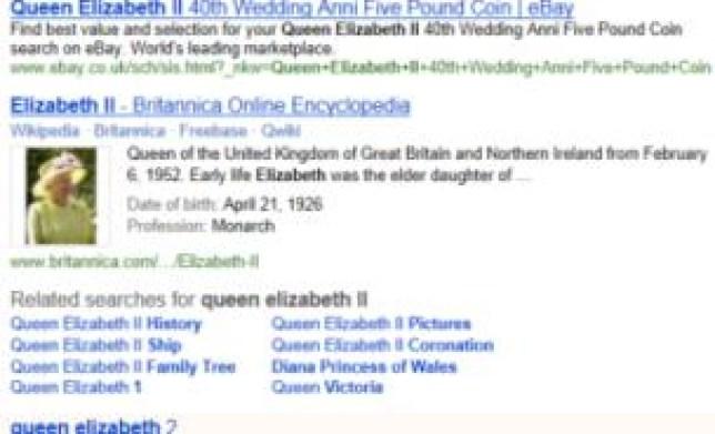 Microsoft Bing search engine reveals Encyclopedia Britannica