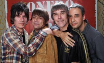 Stone Roses star Ian Brown uses English flag to 'wipe his bum' at gig