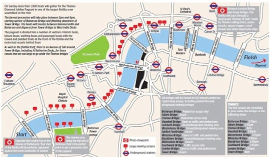 Thames Diamond Jubilee Pageant, route