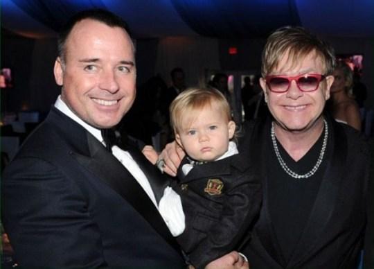 David Furnish, Zachary and Sir Elton John