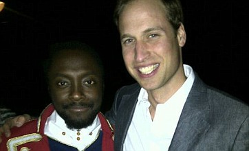 Prince William and Will.i.am relax backstage at Diamond Jubilee Concert