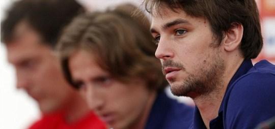 Niko Kranjcar attends a news conference of Croatia