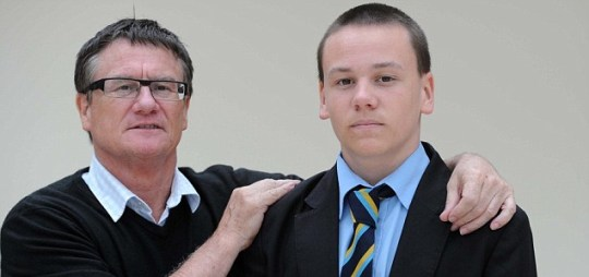 Keith Hind with his son Declan Hind