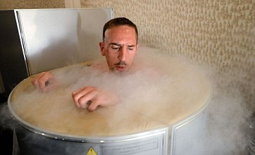 Franck Ribery prepares for England showdown in cryotherapy chamber