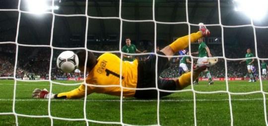 Shay Given goal Ireland Croatia match Euro 2012
