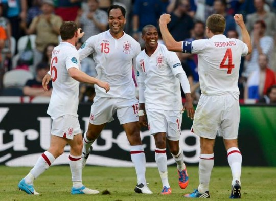James Milner, Joleon Lescott, Ashley Young, Steven Gerrard, England v France, Euro 2012